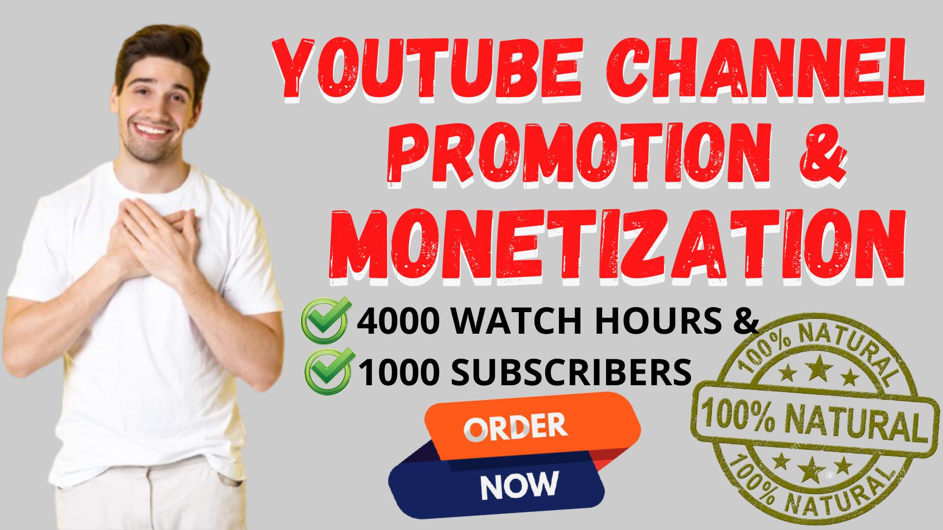 Do Youtube Promotion For Monetization