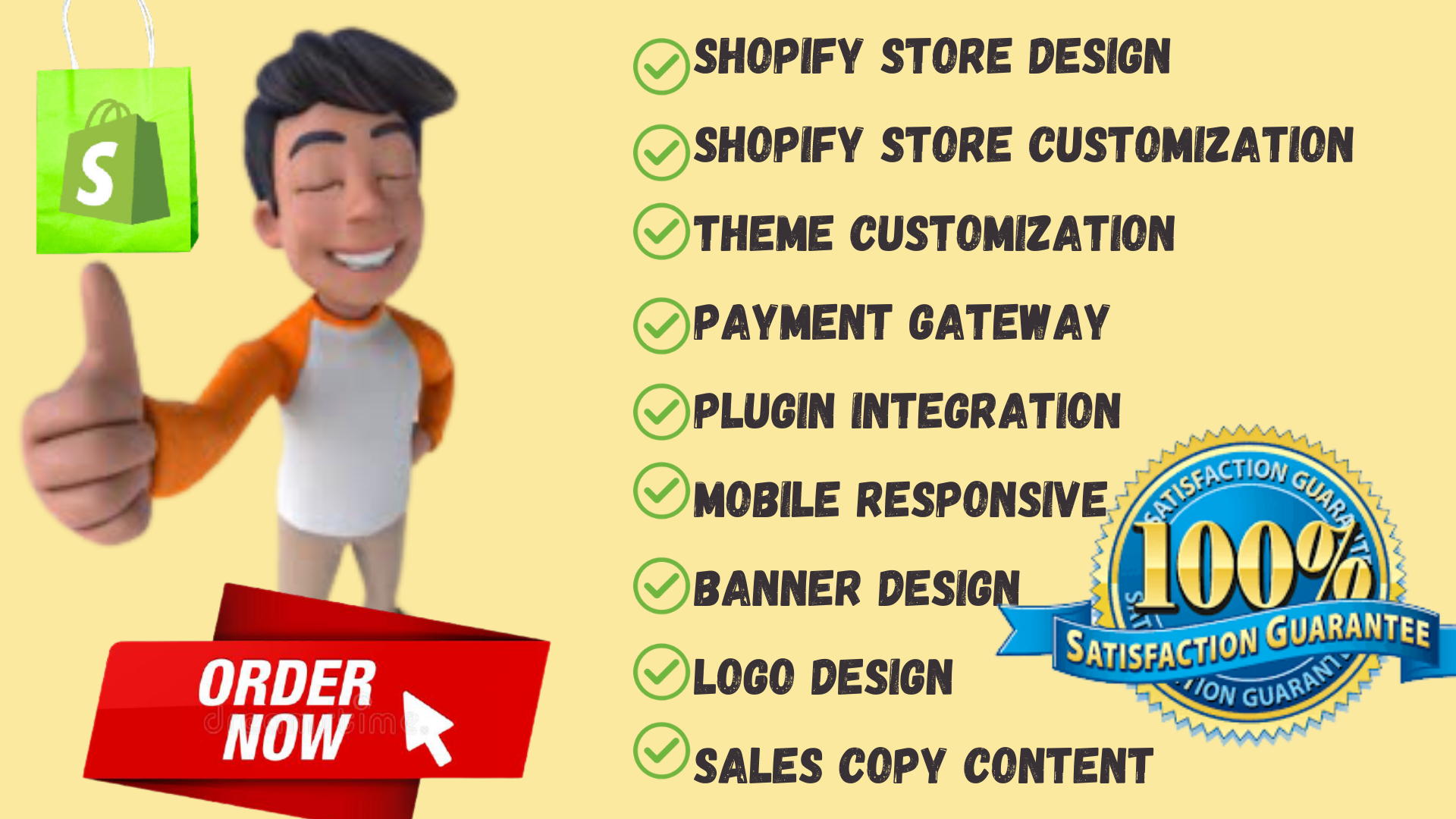 Shopify Store Design,  Redesign And Customization