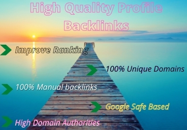 I will create 120 high authority profile backlinks
