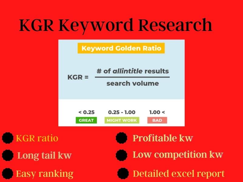 25 KGR keyword GOLDEN KEYWORD or premium keyword research for your website