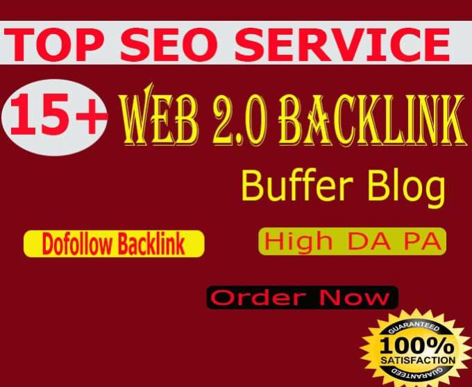 I will create 50 buffer blogs high authority web 2.0 SEO backlinks