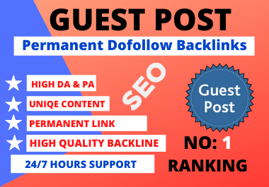 Write and Publish 10 High Quality SEO Guest Posts On High DA,  PA Sites