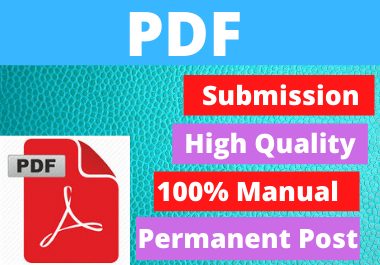 80+ PDF or Document Submission on Popular and High Authority Sites,  Permanent Backlinks