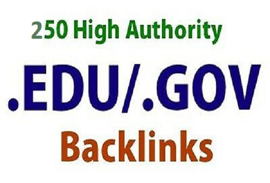 I will do 250 High Authority DA. DR. TF Edu Gov manual backlinks