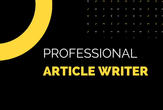 I will write a high quality 2000 word SEO optimized blog post or article