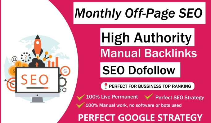 I will do monthly off page SEO service for Google ranking