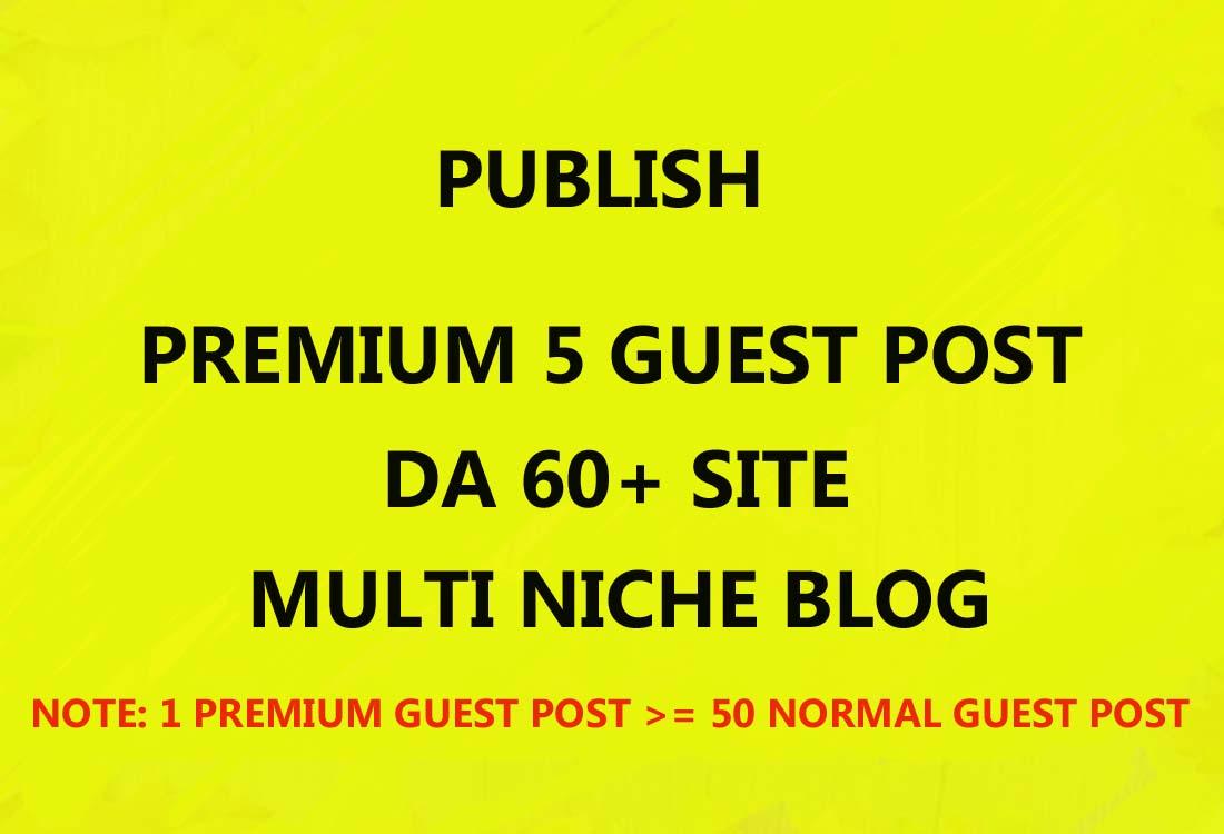I WILL PUBLISH 5 PREMIUM GUEST POST ON HIGH DA SITE +DO-FOLLOW LINK