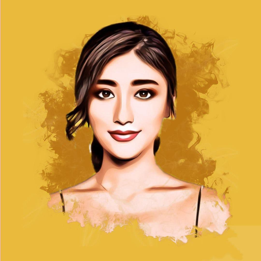 i will draw a cartoon vector portrait with your face