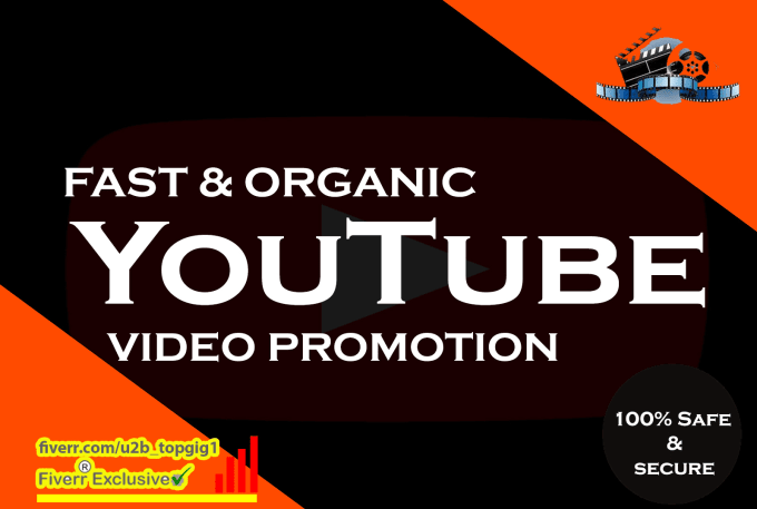 I give you 150 super fast organic youtube promotion backlink with a good results