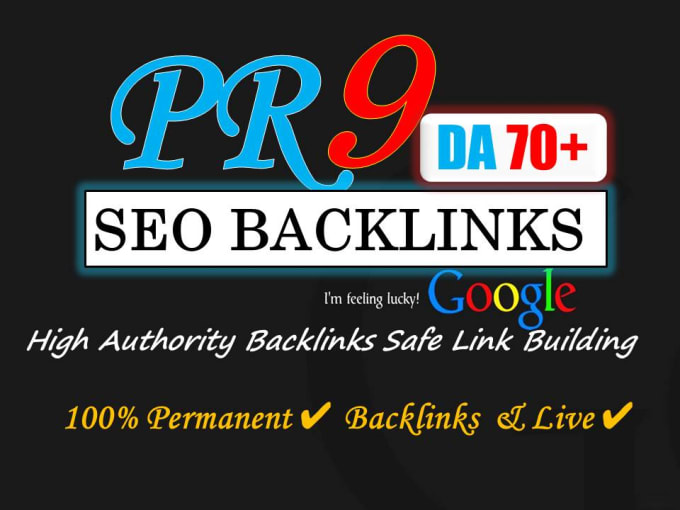 I will best quality high authority pr9 profile backlinks for you.
