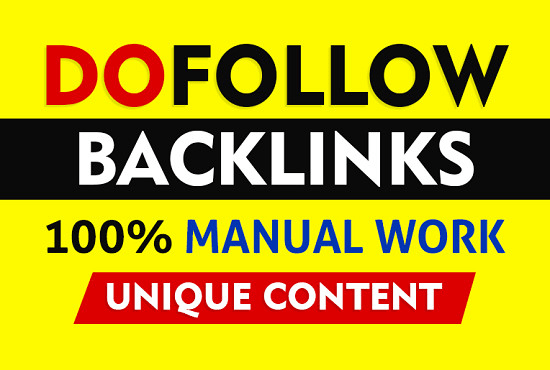 I do 40 white hat high quality SEO dofollow backlinks link building