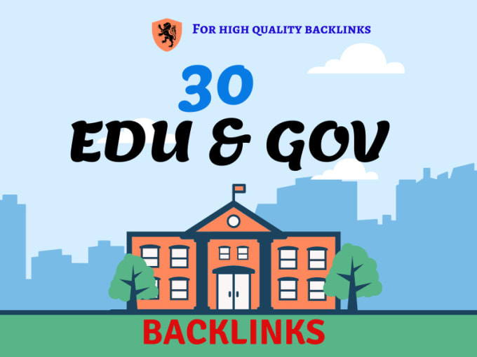 I will do 30 da 50 plus permanent edu gov dofollow seo backlinks