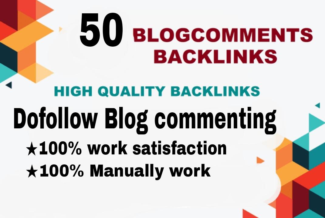 I will provide 50 unique niche relevant blog commenting backlinks