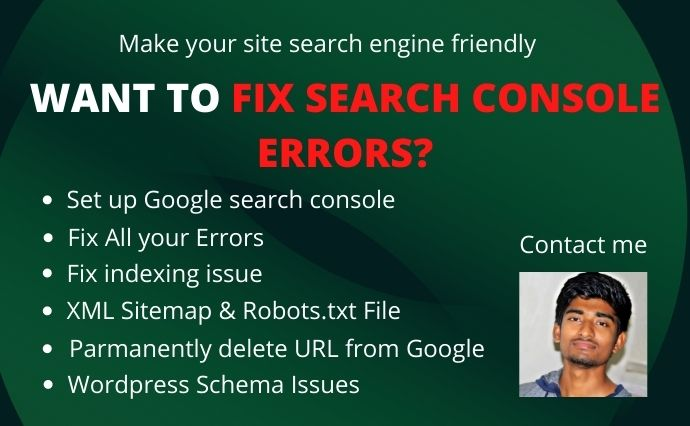 I will fix All Google indexing errors in google search console