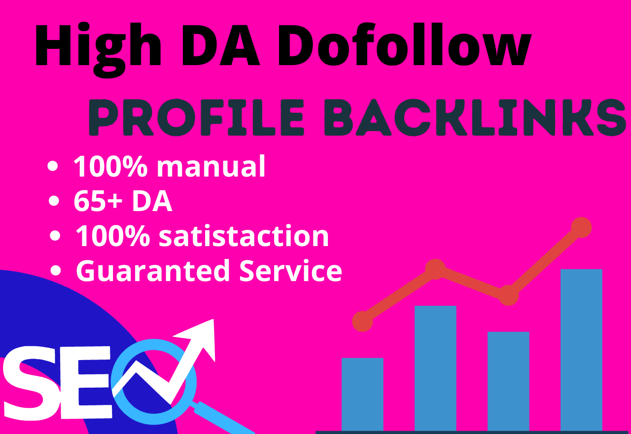I will build 40 high da and pa dofollow social profile backlinks