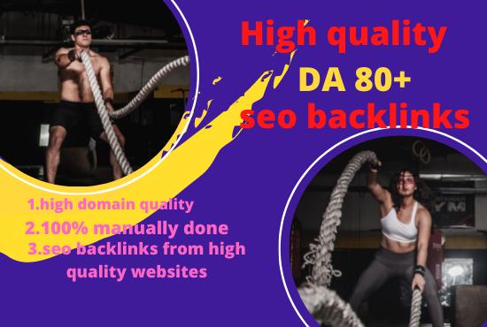 I will provide high quality da/ pa SEO contextual dofollow manual backlinks
