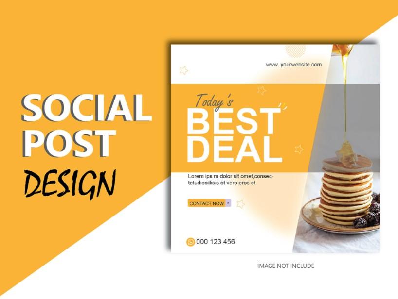 I am expert in creating unique social media post design
