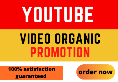YouTube Video Fast Organic Promotion & SEO Ranking