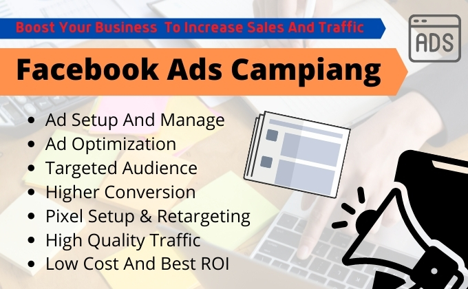 I will setup Your Facebook ads campaign in ads manager and run fb ads campaign.