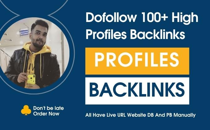 I will build 100+ SEO Live URL Profile Backlink High-Quality.