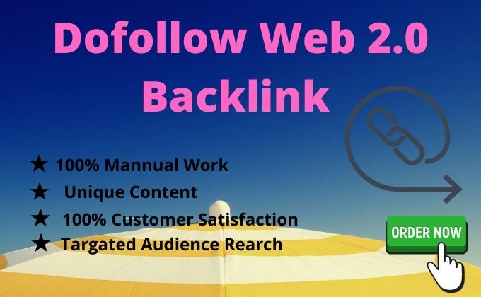I will Build Up 50 Web 2 0 Backlink Manually