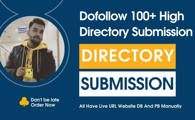 I will do niche top 100+ USA directory submission Manually
