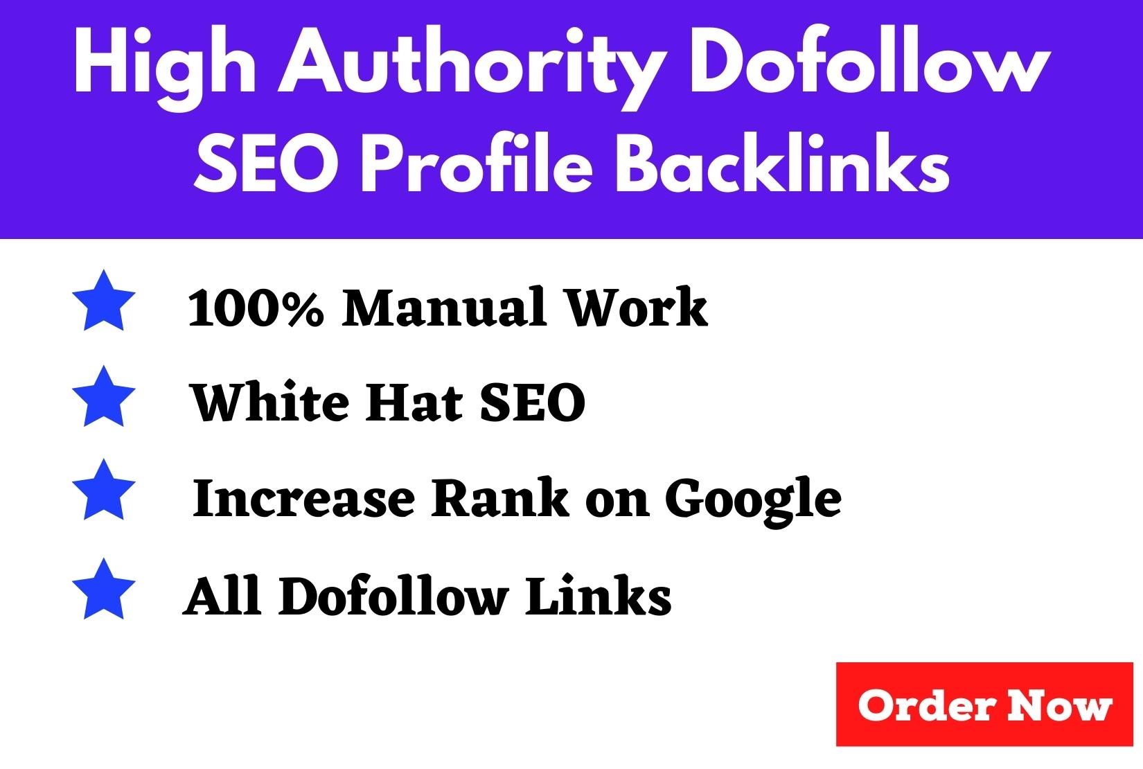 200 high authority dofollow SEO profile backlinks