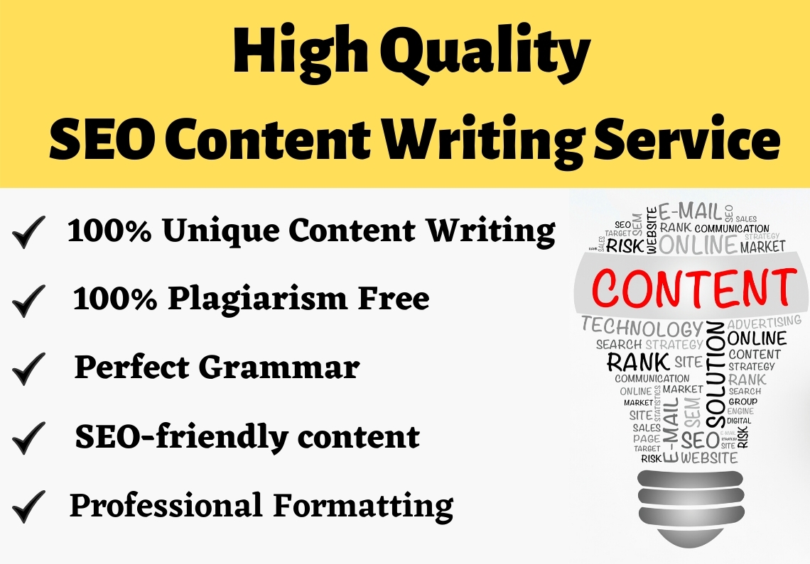 1000 Words High Quality SEO Articles writing,  Blog Posts and Website Content Writing Service