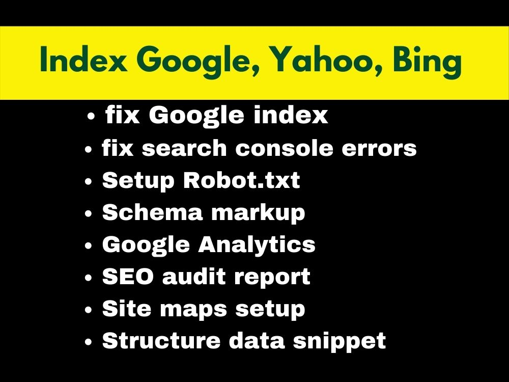 Professionally google index your website and pages.