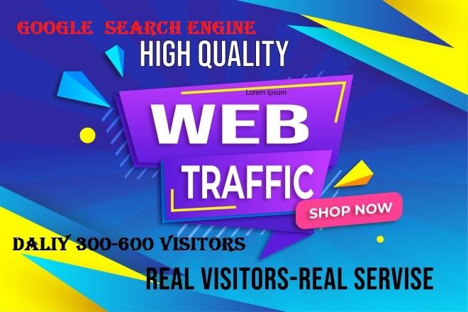 Organic keyword 30 Days Website Traffic From Google, Social Media Visitors