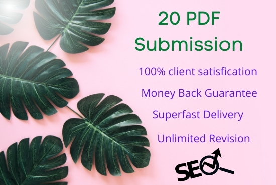 I will do manually pdf submission for SEO backlinks on top doc sharing sites