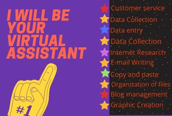 I will be your virtual assistant to save your time and money