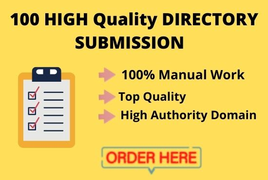 I will do 100 business web directory submissions