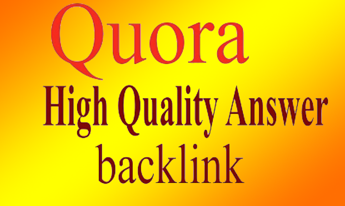 15 High Quality backlinks Niche Relevant Quora Answers