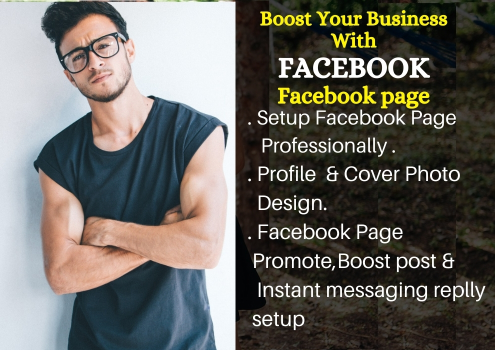 I will create and boost your facebook business page and instant messaging reply setup