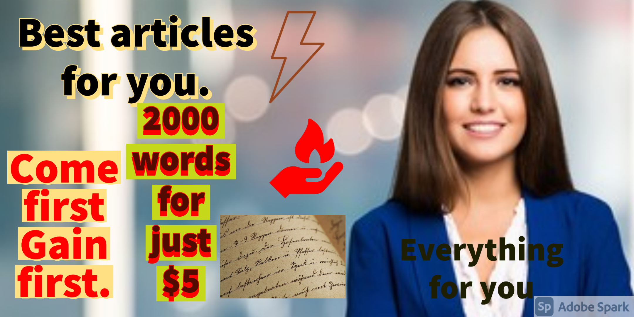 I will write any thing for you,  blogs and articles and each and everything.