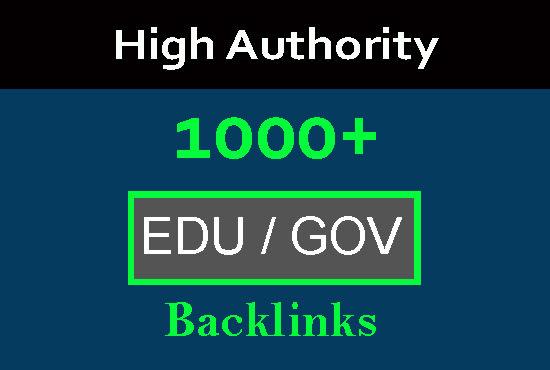 I will do 1000 edu gov high authority SEO backlinks for google ranking