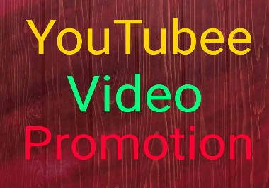 Best YouTube Video Promotion and very fast Delivery.