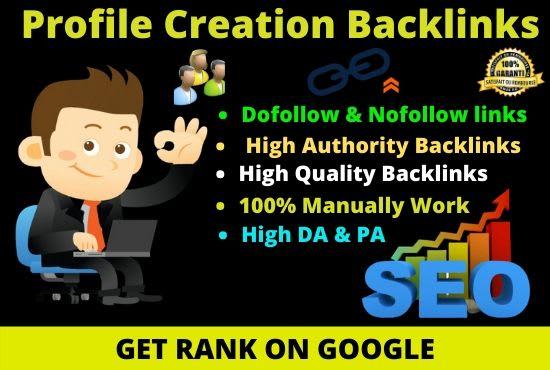 I will Create 100+ Social Media Profiles Creation SEO Backlinks