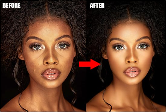 I will do professional portrait retouching business photo editing for you and your business