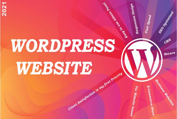I will build professional WordPress website and beautiful blog
