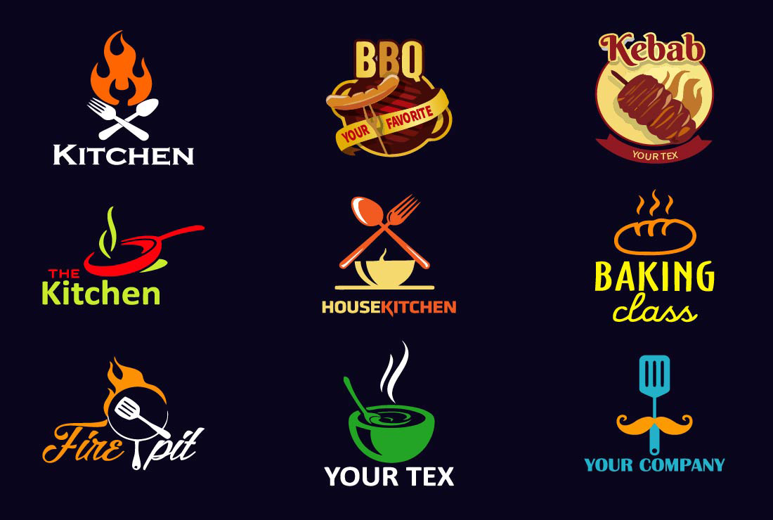 I will design a creative food,  bakery,  cafe,  bbq,  coffee shop and restaurant logo