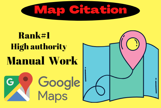 I will do Manual 200 Google Maps Citation manual high authority permanent Rank 1