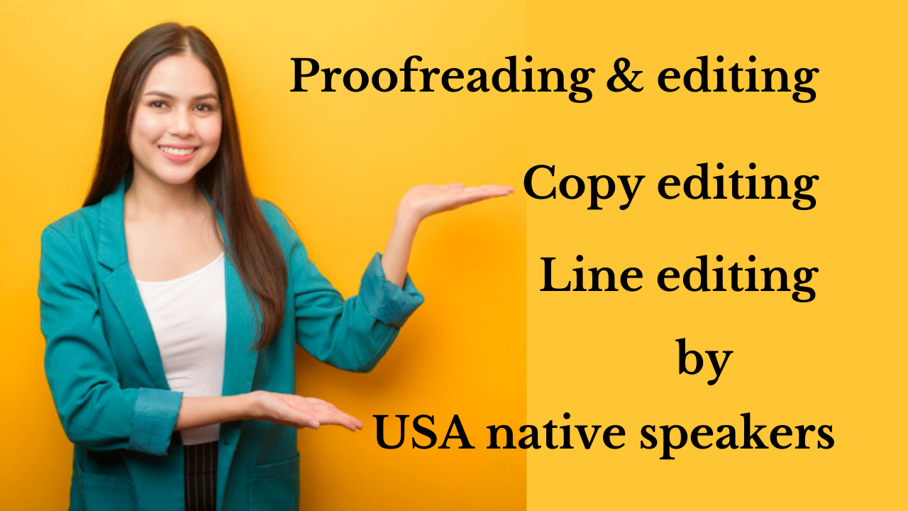 I will provide proofreading and editing service