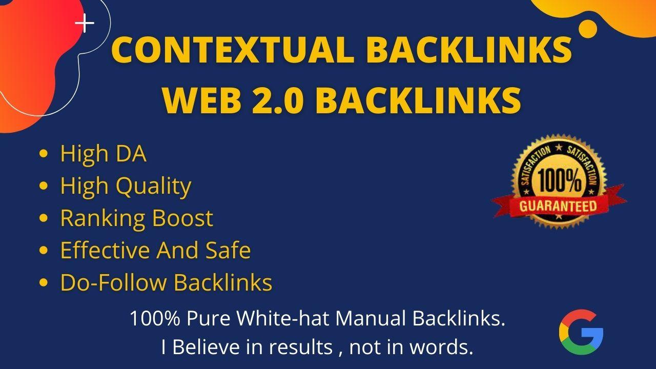I will do manually web 2.0 do follow backlinks