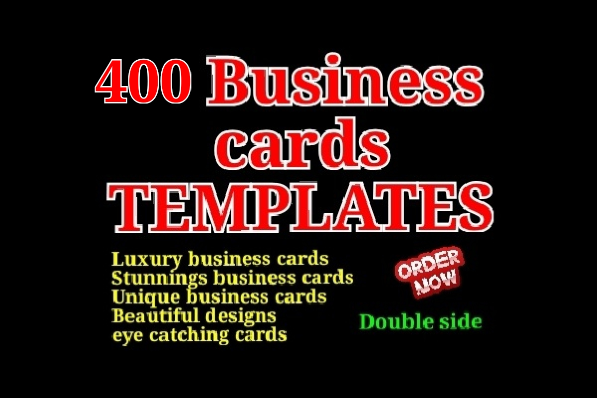 I will give 400 business cards Templates