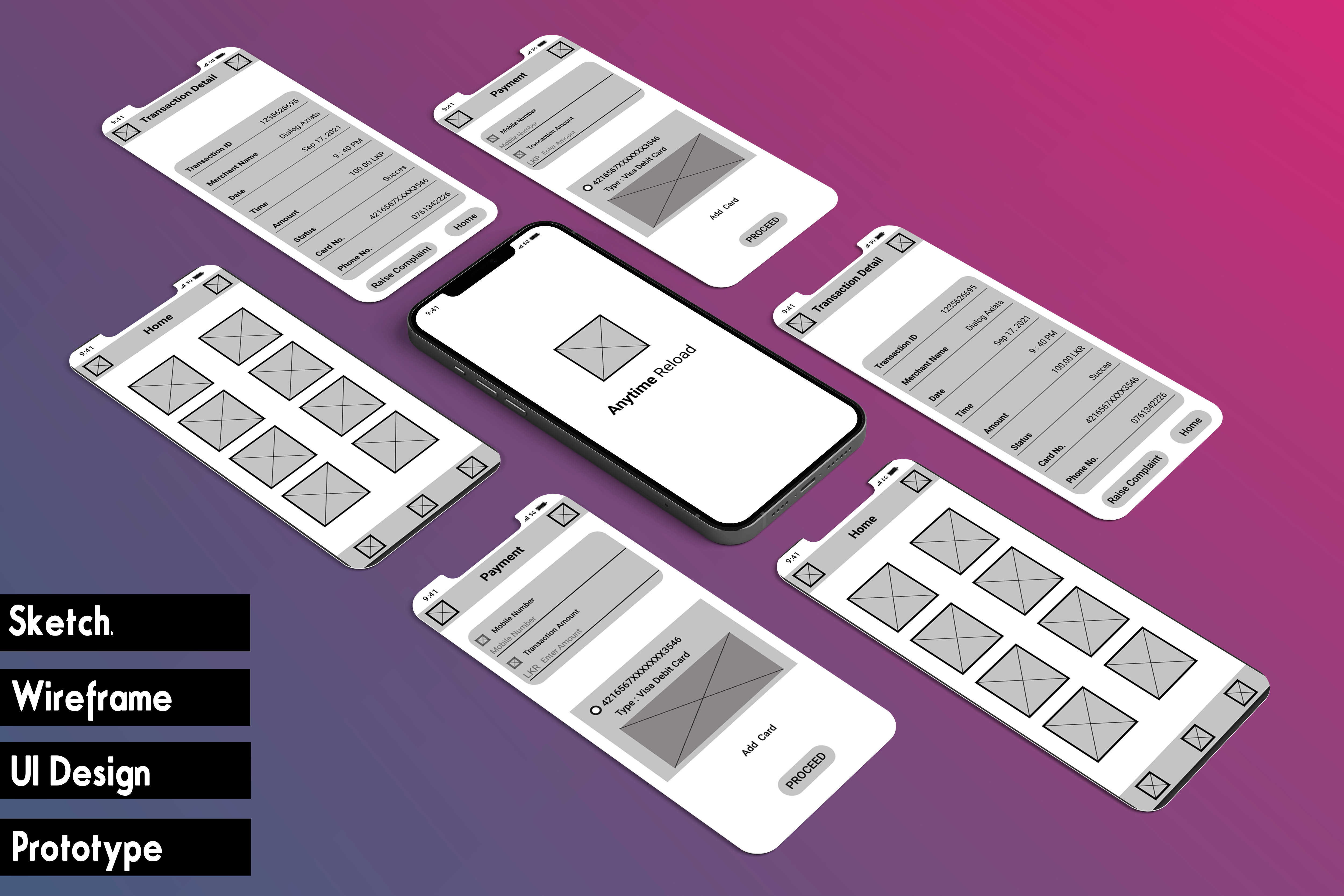 I will design a 5 wireframe for your web page or app