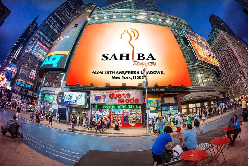 I will put your logo or photo on 40 BILLBOARDS at famous places virtually