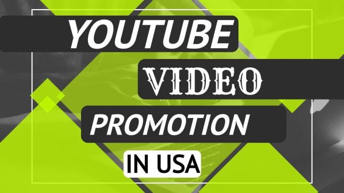 provide organic usa youtube video promotion