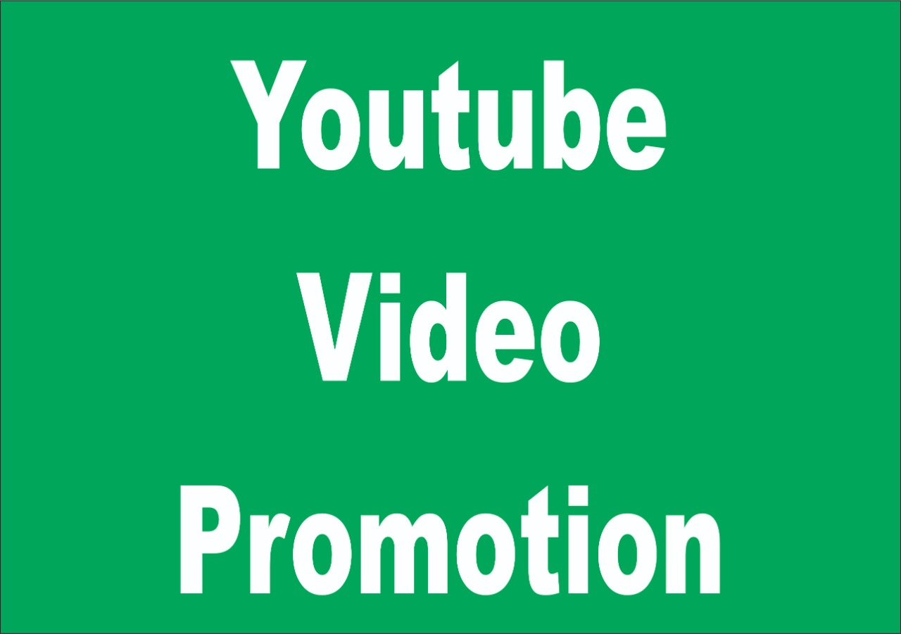 Get provide Super Fast real YouTube video promotion